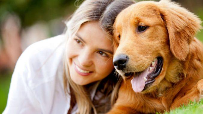chien avec femme